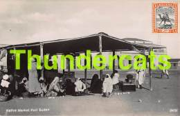 CPA SUDAN CARTE DE PHOTO RPPC REAL PHOTO POSTCARD NATIVE MARKET PORT SUDAN - Soudan