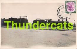CPA SUDAN CARTE DE PHOTO RPPC REAL PHOTO POSTCARD PORT SUDAN TRAIN LOCOMOTIVE CHEMIN DE FER GARE STATION RAILWAY - Sudan