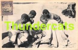 CPA MOCANBIQUE MOZAMBIQUE  PLAYING M'SOUO JEU GAME - Mozambique