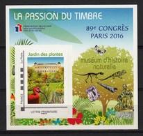 France 2016 Congress Paris 2016 Bird Flowers Dinos Butterfly SS MNH - Vögel