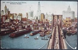 NEW YORK From East Tower Brooklyn Bridge Gel. 1913 N. Teufen Switzerland - Ponts & Tunnels