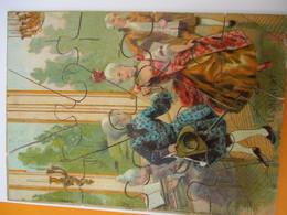 Puzzle Ancien / 12 Piéces/ Danse De Salon / Le Menuet/ /Fin XIXéme Siécle        JE204 - Puzzles