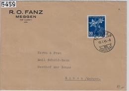 1944 Pro Juventute J112/442 Meggen 10.I.45 To Eiken (R.O. Fanz) - Pro Juventute