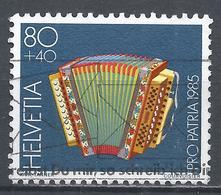 Switzerland 1985. Scott #B517 (U) Musical Instument, Diatonic Accordion * - Pro Patria