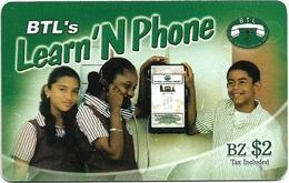 Belize - BTL - Learn 'N Phone - Remote Mem. $2Bz, Used - Belize