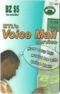Belize - BTL - Voice Mail Service - Remote Mem. $5Bz, Used - Belize
