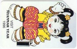 MYANMAR A-006 Magnetic MPT - Cartoon - Used - Myanmar