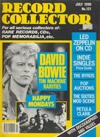 REVUE ANGLAISE RECORD COLLECTOR N° 131 De 1990   : DAVID BOWIE         ETC ........... - Objets Dérivés