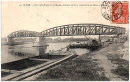 08 SEDAN - Pont Métallique Sur La Meuse - Chemin De Fer à Voie étroite De Sedan à Bouillon - Sedan