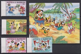 2082 Walt Disney Antigua & Barbuda ( CHRISTMAS 1986 ) - Disney