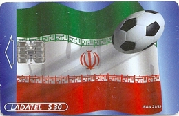 Mexico - Ladatel - World Cup - Flags Irán 21/32, Mex-SN-034-21, 30$, 03.1998, Used - Mexico