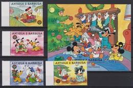 2083 Walt Disney Antigua & Barbuda ( CHRISTMAS 1986 - DISNEY BABIES WITH THIER PRESENTS ) - Disney