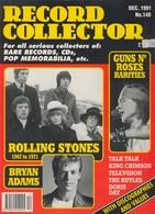 REVUE ANGLAISE RECORD COLLECTOR N° 148  De 1991   :     ROLLING STONES   ETC ........... - Objets Dérivés