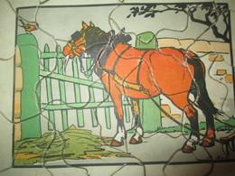Puzzle Ancien / 23 Piéces/ Cheval De Trait / DOT/ Vers 1930 -1950       JE214 - Puzzle Games