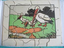 Puzzle Ancien / 20 Piéces/ Pélicans En Bord De Riviére/ DOT/ Vers 1930 -1950       JE213 - Puzzles