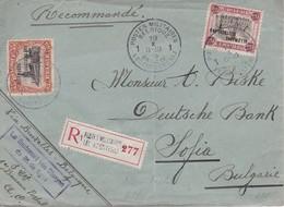 OCCUPATION BELGE EN ALLEMAGNE 1923 LETTRE RECOMMANDEE POSTES MILITAIRES BELGES/BELGIE LEGERPOSTERIJ AVEC CACHET ARRIVEE - Guerre 14-18