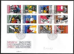 Liechtenstein: FDC, L'uomo E Il Lavoro, Man And Work, L'homme Et Le Travail - Fabbriche E Imprese