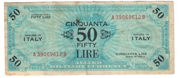 Italy 50 AM Lire 1943A - [ 3] Military Issues