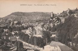 Carte Postale Ancienne De L'Isère - Crémieu - Vue Générale Et Le Mont D'Annoisin - Crémieu