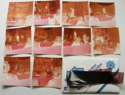 Line Renaud Revue Cabaret Casino De Paris 1977 Lot De 10 Photo Originale Cliché Amateur X10 Avec Négatif - Célébrités