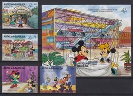 2088 Walt Disney Antigua & Barbuda ( PHILEX FRANCE 1989 ) - Disney