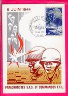Carte 1 Er Jour - Parachutistes Sas Et Commandos Ffl - Altri