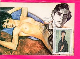 Carte 1 Er Jour  - Modigliani Femme Aux Yeux Bleus - Other
