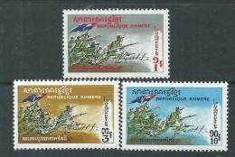 Khmère N° 271 / 73 XX Défense De L'Intégrité Territoriale, Les 3 Valeurs Sans Charnière, TB - Kampuchea