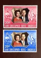 St Kitts 1972 Silver Wedding Birds MNH - Vogels