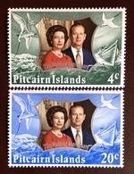 Pitcairn Island 1972 Silver Wedding Birds MNH - Vogels