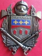 INSIGNE POMPIERS CAMARES (ecu Email) - Firemen