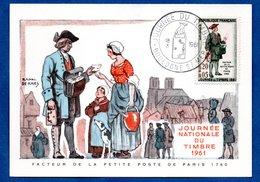 Carte Premier Jour  / Facteur De La Petite Poste De Paris 1760 / Boulogne Sur Mer / 18-03-1961 - Maximumkarten