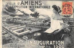 CPA 80 AMIENS EXPOSITION INTERNATIONALE 1906 INAUGURATION 14 AVRIL 1906 - Amiens
