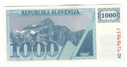 Slovenia 1000 Tolarjev 1991-92 AUNC *V* - Slovénie