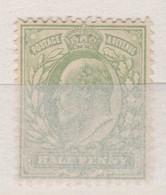 GRANDE BRETAGNE Ed. VII 1902: 1/2p Vert-jaune, Filigrane Couronne, Neuf * - 1902-1951 (Koningen)