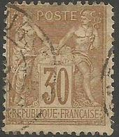 France - 1876 Sage 30c Used - 1876-1878 Sage (Type I)