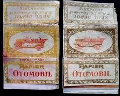 Turkey,Ottoman,PAPER OF CIGARETTES,Two Different Forms #1914 Otomobil,VF.. - Cigarette Holders