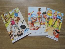 """3 Cartes Pétanque """"FANNY"""" Illustrateur P Orduret - Pétanque"""