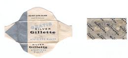 Lame De Rasoir Fanglaise GILLETTE Silver GRATIS - English Free Sample Safety Razor Blade - Razor Blades