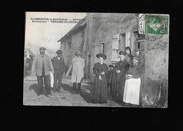 C.P.A. RESTAURANT TERRIER BLONDEAU A ST GENGOUX LE NATIONAL 71. - France