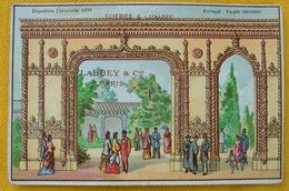 CHROMO EXPOSITION UNIVERSELLE De Paris 1878 PAVILLON PORTUGAL FACADE INTERIEURE Pub Labbey & Cie Paris - Cromo