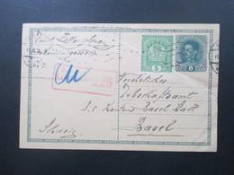 Österreich 1916 Postkarte / Ganzsache Mit Zusatzfrankatur! Roter Zensurstempel K2 Zensuriert KuK Zensurstelle 225 - 1850-1918 Imperium