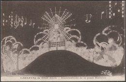 Illuminations De La Place Massèna, Carnaval De Nice XLIX, C.1910s - Giletta CPA - Carnival