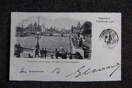 PARIS - Exposition De 1900 , Perspective Sur La SEINE, Vue Prise Du Pont Alexandre. - Ausstellungen