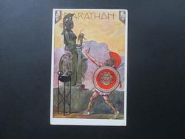 Österreich Ca. 1912 Künstlerkarte Marathon Minerva Praha Spalena 48. Violetter L4 Stempel Sokola - 1850-1918 Imperium