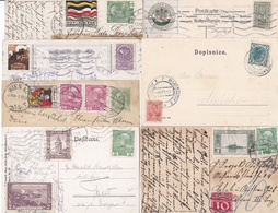 7 Karten Mit Gestempelten Vignetten, Ca. 1905-1916 - Vignetten (Erinnophilie)