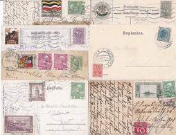 7 Karten Mit Gestempelten Vignetten, Ca. 1905-1916 - Vignettes De Fantaisie