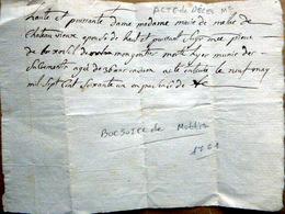 73 SAVOIE CHAMBERY DAUPHINE ACTE DE DECES MANUSCRIT  DE BARBARA DE BOCZOSEL A LAUSANNE EN 1793 - Manuscripts