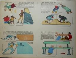 Silhouettes à Découper, 4 Planches, Imagerie Pellerin à Epinal, Nos 1 à 12 - Autres