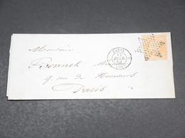 FRANCE - Lettre De Paris Pour Paris En 1858 , Affranchissement Napoléon Non Dentelé , Oblitération étoile - L 19255 - 1849-1876: Période Classique
